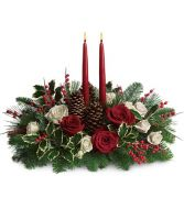 Teleflora's Christmas Wishes centerpiece in Caldwell, ID | BAYBERRIES FLORAL