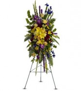 Teleflora's in loving memory spray sympathy in Caldwell, ID | BAYBERRIES FLORAL