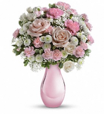 Teleflora's Radiant Reflections Bouquet  Birthday Vase