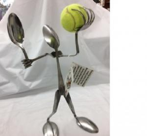 Tennis Player Forked Up Art in Glasgow, MT | GLASGOW FLOWER & GIFT