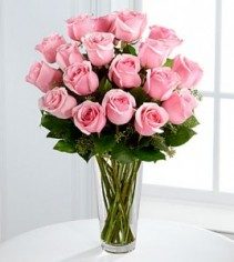 The Long Stem Pink Rose Bouquet EF43
