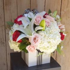 The Pink and White Birthday Box  in Scottsdale, AZ | PARADISE VALLEY FLORIST