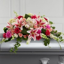 The Splendid Grace™ Casket Spray sympathy flowers