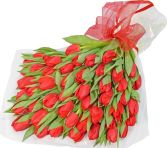 THIRTY RED TULIPS  GIFT WRAP in Rockville, MD | ROCKVILLE FLORIST & GIFT BASKETS