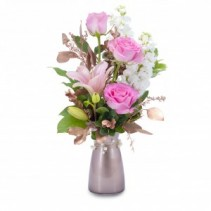 Vintage Pink Fresh Flower Arrangement