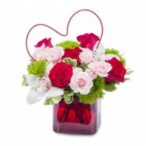 Heart Full of Love Fresh Flower Arrangement