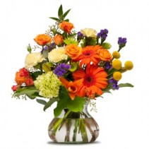 Papaya Whip Fresh Flower Arrangement