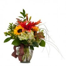 Color Me Autumn Fresh Flower Arrangement