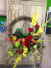 Tractor Spray Funeral Spray in Jonesboro, AR | HEATHER'S WAY FLOWERS & PLANTS