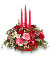 CHRISTMAS KINDNESS Centerpiece in Katy, TX | KD'S FLORIST & GIFTS