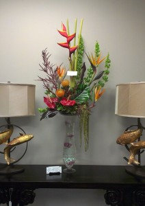 Tropical Elegance Tropical Arrangement in Webster, TX |  La Mariposa Flowers