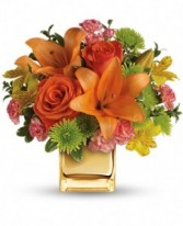 Tropical Punch Bouquet by Enchanted Florist