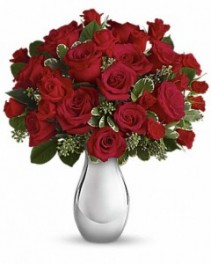 True Romance Bouquet with Red Roses ---