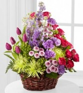 Truly Loved™ Basket Basket Mix Flowers