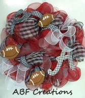 University of Alabama Mesh Wreath in Birmingham, AL | ANN'S BALLOONS & FLOWERS
