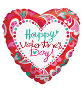 Valentine's Day Balloons Bouquet 3 Mylar Valentine Balloons with 5 Latex Balloons