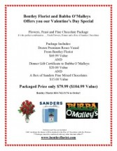 Valentine Day Special Flowers, Feast and Fine Chocolate Package
