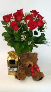 Valentine's Special Package Roses, Chocolates and a Teddy in Delta, BC | FLOWERS BEAUTIFUL