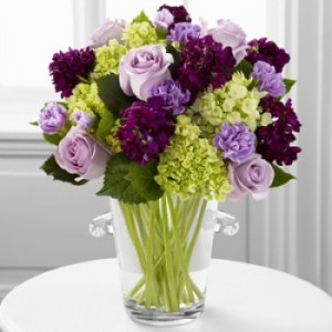 Vera Wang Collection: Purple Hue Exclusive Vase Arrangement  in Teaneck, NJ | TEANECK FLOWER SHOP (A.A.A.A.A.)