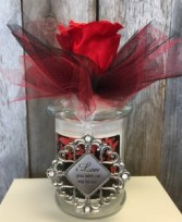 Virtuous Massage Candle  With Forever Rose and Charm