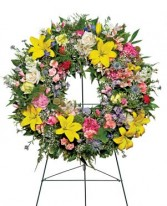 Warm Thoughts Wreath Funeral Flowers in Unionville, CT | J W FLORIST