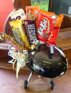 Weber Grill with Snacks