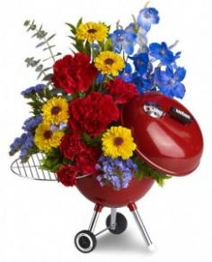 WEBER King of the Grill by Teleflora Floral Arrangement in Glasgow, MT | GLASGOW FLOWER & GIFT SHOP