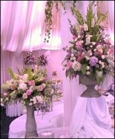 FLORAL PEDESTAL DISPLAY Wedding Reception Arrangements in Prospect, CT | MARGOT'S FLOWERS & GIFTS