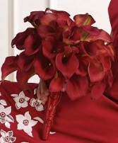 RED CALLA LILY BOUQUET Wedding Flowers WS90-21 in Conroe, TX | FLOWERS TEXAS STYLE