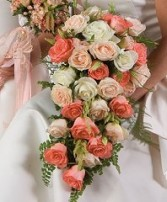 CASCADE BRIDAL BOUQUET Wedding Flowers WS91-15 in Conroe, TX | FLOWERS TEXAS STYLE