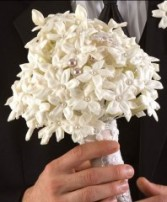 STEPHANOTIS & PEARL Bridal Bouquet WS5-11 in Conroe, TX | FLOWERS TEXAS STYLE