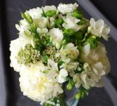 Wedding Bouquet Dahlia.Freesia,Green Mums