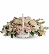 WF115 Heavenly Peace Flower Basket