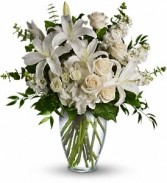 WF270 White Lilies & Roses