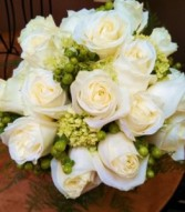 White and Green Bridal Bouquet Hand-tied Bridal Bouquet
