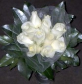 White and Silver roses Fresh floral vase arrangement in Dallas, TX | MY OBSESSION FLOWERS & GIFTS