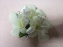 White Dendrobium Orchid Corsage, $25.00