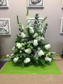 White Remembrance Sympathy Arrangement