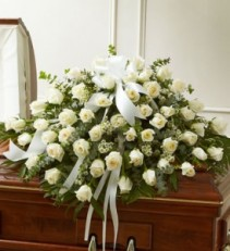White Rose Half Casket Cover EF55