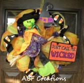 Wicked Witch Mesh Wreath in Birmingham, AL | ANN'S BALLOONS & FLOWERS