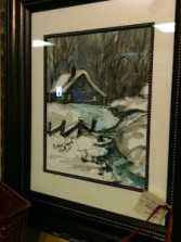 Winter Scene Painting In our Antiques & Gift Shop
