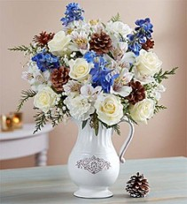 Winter Wishes Bouquet Fresh Arrangement