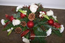 Winter wonderland table center can be done in all white