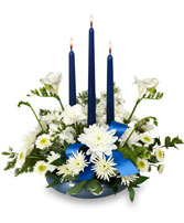BRIGHT WHITE & BLUE Centerpiece in East Hampton, CT | ESPECIALLY FOR YOU