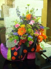 Witch Foot Forward?? Halloween Custom Design in Burlington, NC | STAINBACK FLORIST & GIFTS
