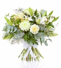 Tranquility in White Mix Bouquet