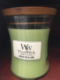 Wood Wick candle Green tea & lime