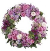 SS 22-Wreath of mixed flowers Flowers and colors may vary
