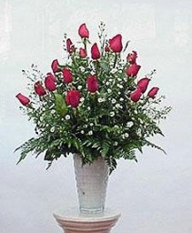 24 Roses in a Vase Arrangement