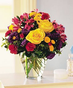 BRIGHTEN YOUR DAY Flower Arrangement in Charlottetown, PE | HEARTS AND FLOWERS